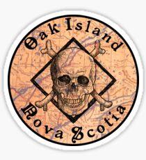 OAK ISLAND NOVA SCOTIA CURSE CANADA PIRATE TREASURE HUNT MONEY PIT Sticker