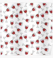 glass of wine pattern Poster