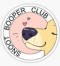 Snoot Booper Club Sticker