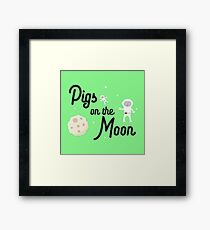 Pigs on the Moon Rky06 Framed Print