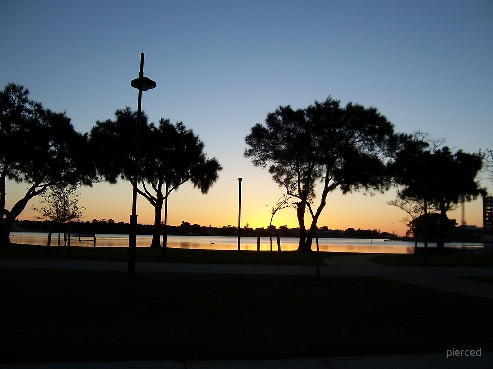 Mandurah Sunset by pierced