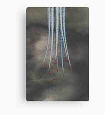 Red Arrows Bomb Burst Canvas Print