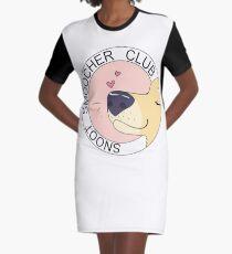 Snoot Smoocher Club Graphic T-Shirt Dress