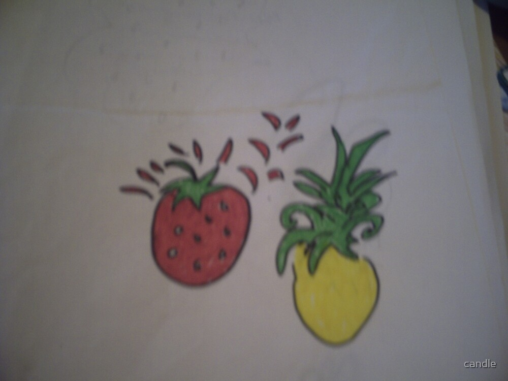 fruity design by candle