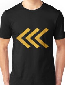 Arrows in Bold Gold Unisex T-Shirt