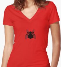 Spidey Symbol Women's Fitted V-Neck T-Shirt