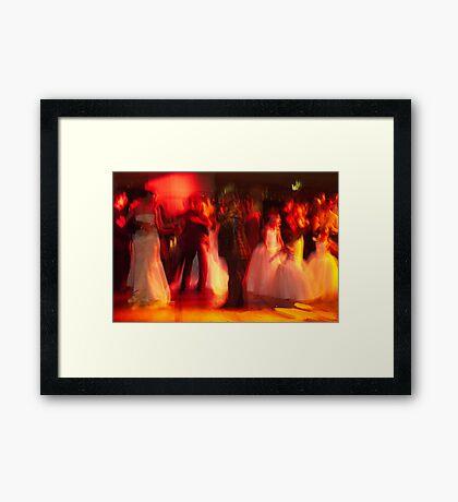 A Wedding Scene Framed Print