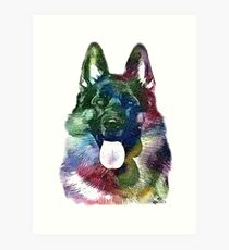 German Shepherd Unique! Art Print