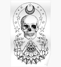 Power Skull Mandala Poster