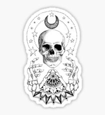 Power Skull Mandala Sticker