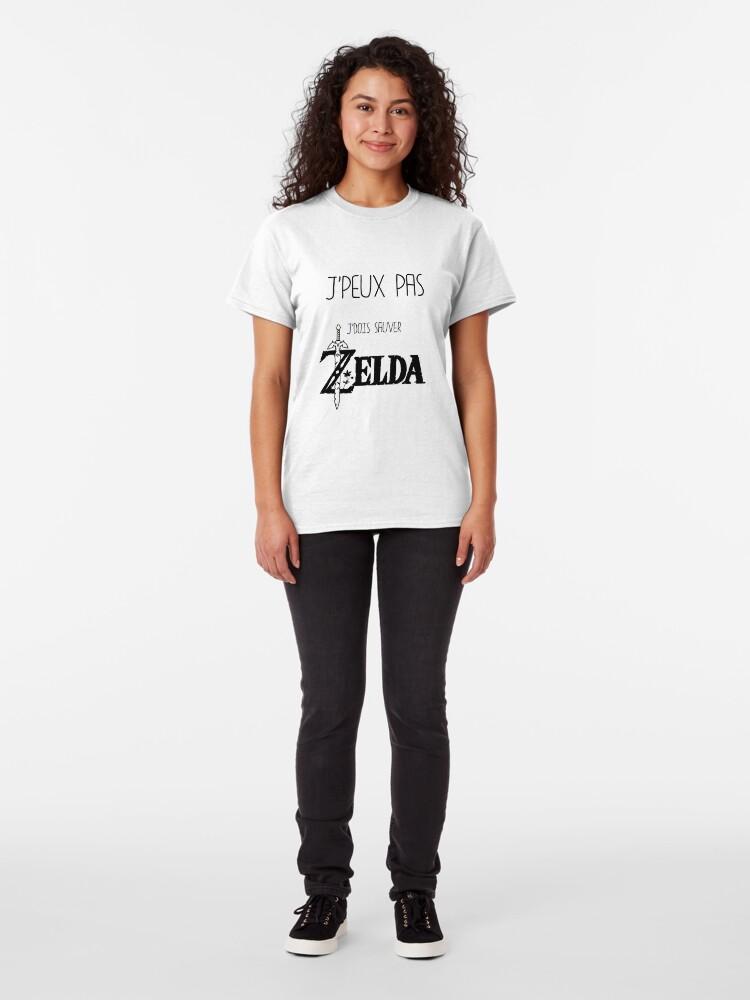 T-shirt classique ''J'peux pas j'dois sauver Zelda': autre vue