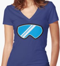 Snow goggles winter Women's Fitted V-Neck T-Shirt