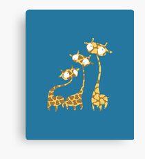Cute Giraffe Family - Savannah Animals Canvas Print