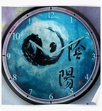 Yin Yang  keeping Time with the Universal Energy Poster