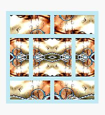 Crossing Wires with Rings in Old Western Style Photographic Print