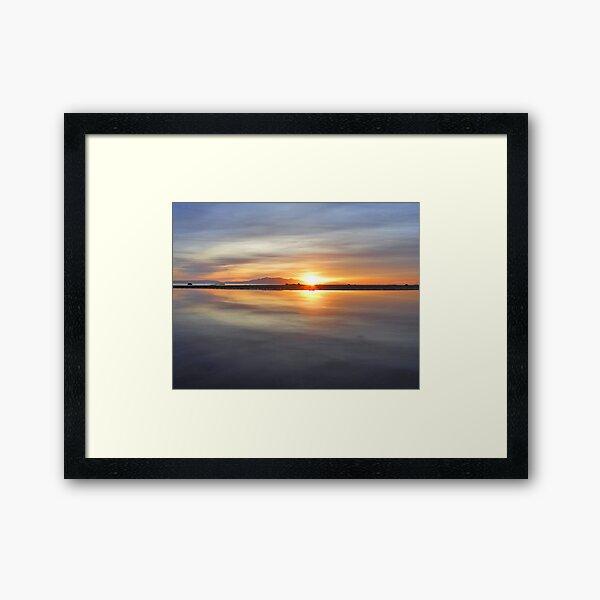 Arran Reflecting Sunset 1 Framed Art Print