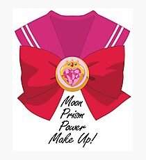 Moon Prism Power Make Up! Chibi Moon with bow Photographic Print