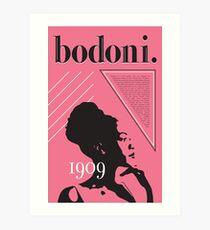 Bodoni Perfontified Art Print