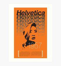 Helvetica Perfontified Art Print