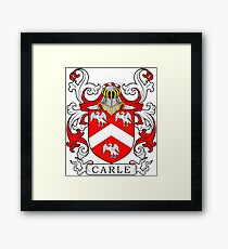 Carle Coat of Arms Framed Print