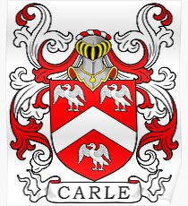Carle Coat of Arms Poster