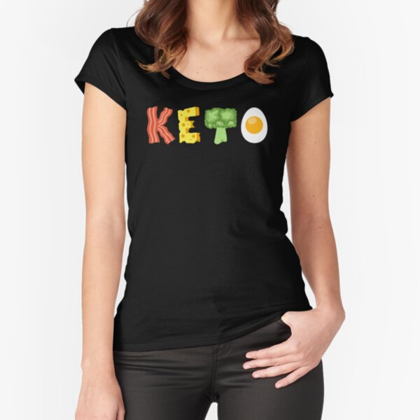 ConeCandy: 4 Pillars of Keto Fitted Scoop T-Shirt