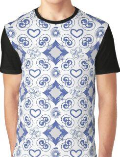 Blue Swirls of Love Graphic T-Shirt