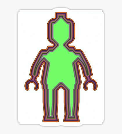 Alien Minifig Xray Sticker