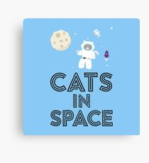 Cats in Space R268b Canvas Print