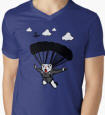 Skydiving Ferret (Updated) Men's V-Neck T-Shirt