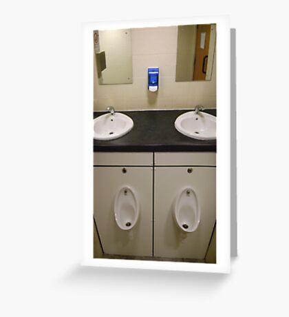 near symmetry (washroom combination) Greeting Card