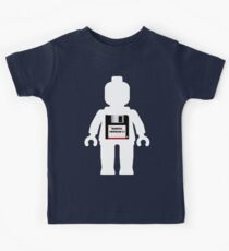 "White Minifig with ""MINIFIG VERSION 1.1"" Kids Clothes"