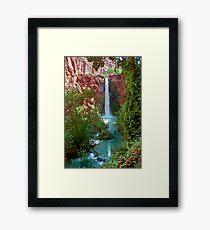 Moony Falls and Tree Framed Print