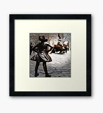 Defiant Girl Statue Framed Print