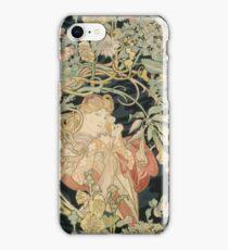 Alphonse Mucha - Femme A La Marguerite iPhone Case/Skin