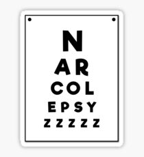 Sleep Disorders: Narcolepsy... zzzz Sticker