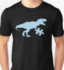 Autism Awareness Shirt, Blue T Rex Dinosaur April 2017 Unisex T-Shirt