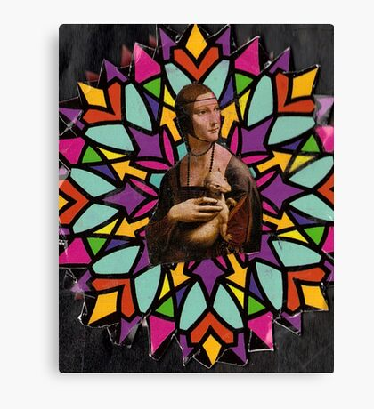 Stained Glass DaVinci Canvas Print