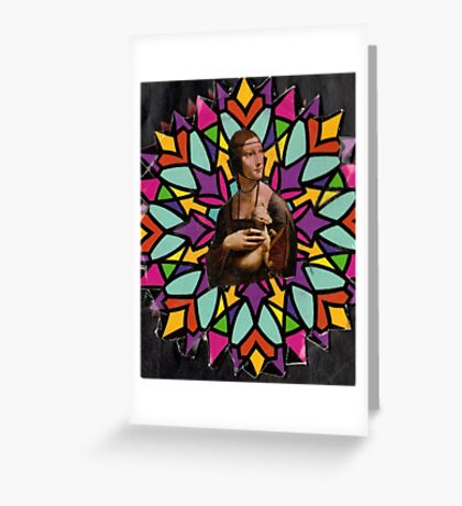 Stained Glass DaVinci Greeting Card