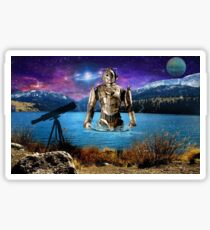 Lake side dream - with cyberman Sticker