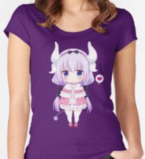 Kanna Kamui [Maid Dragon] Women's Fitted Scoop T-Shirt