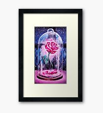 Watercolor Enchanted Rose Framed Print