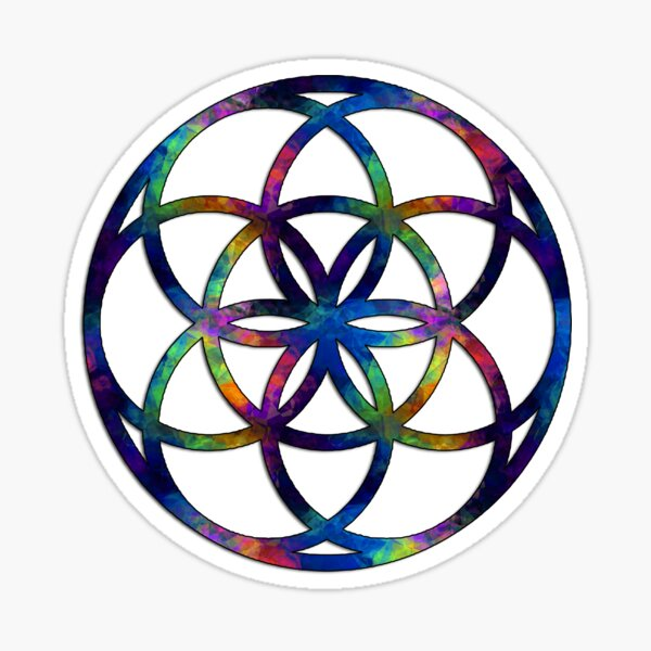 Seed of Life - Sacred Geometry - Fractal Sticker