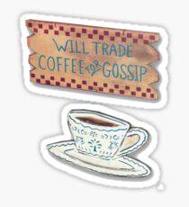 Coffee for Gossip Sticker