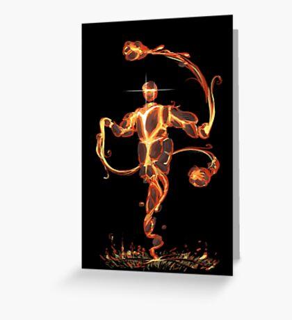 Lava Elemental Greeting Card