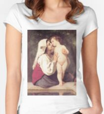 Adolphe William Bouguereau - Le Baiser 1863 Women's Fitted Scoop T-Shirt