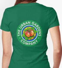 Color Logo for UGC, by Urban Gardens Womens Fitted T-Shirt