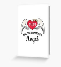 Mom, Another Name For Angel - Tattoo Heart Wings Greeting Card
