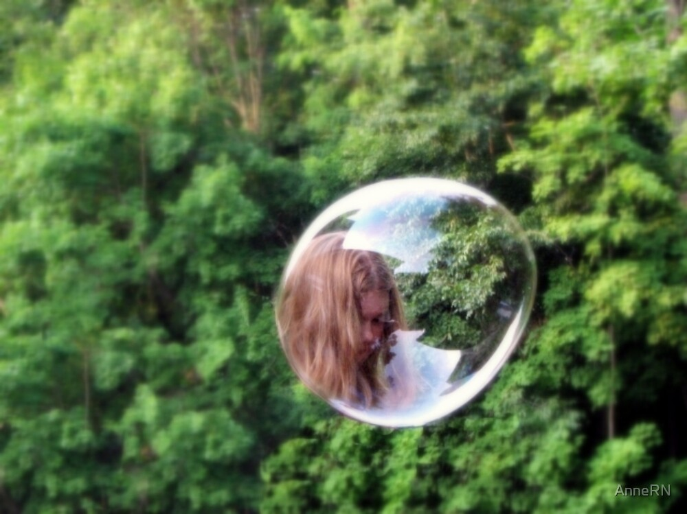 Girl in the GreenBubble by AnneRN