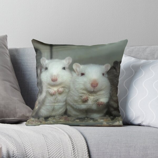 Gerbils Throw Pillow